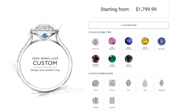 オーダメイド指輪をカスタムできるECサイト:Zales