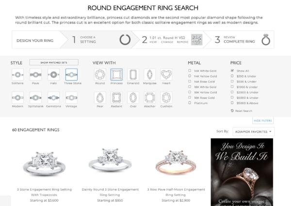 オーダメイド指輪をカスタムできるECサイト:ADIAMOR