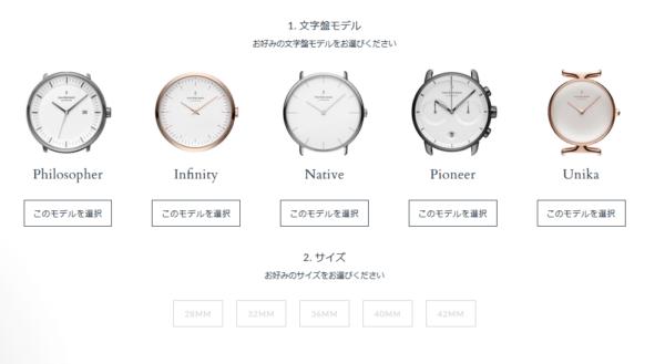 時計のカスタムができるノードグリーンのページ